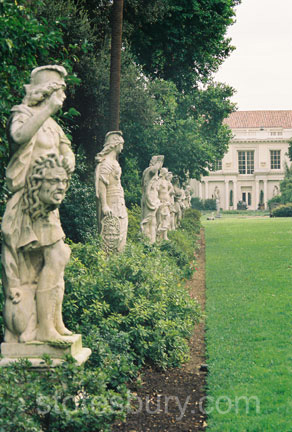 Sculptures by Visseaux at the Huntington