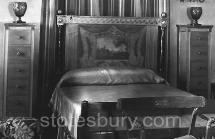 Close-up of E.T. Stotesbury's bed