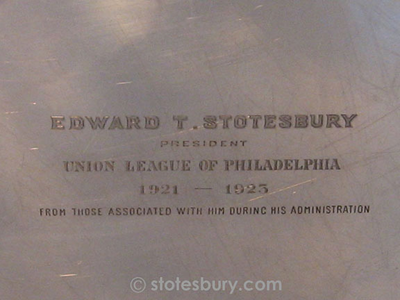 Close-up of the Union League Platter